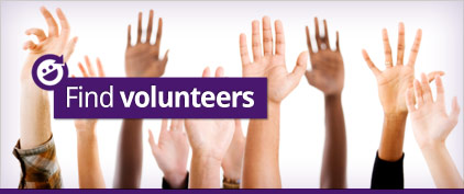 Find volunteers for your charity