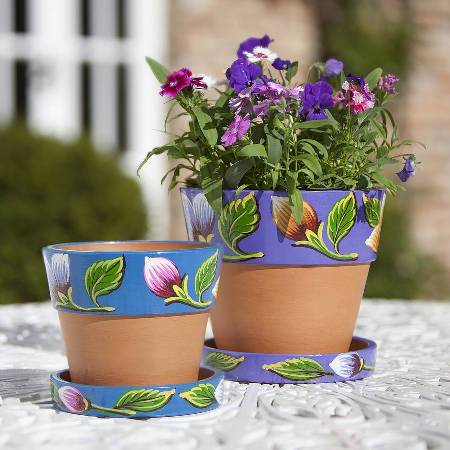 Traidcraft hand painted plant pots.jpg