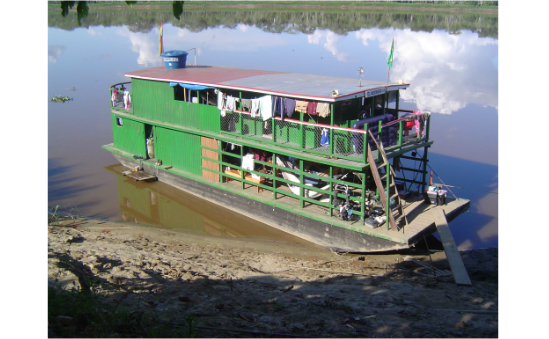 Floating eye hospital in the Amazon