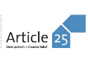 Article 25, Development and Disaster Relief