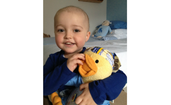Alfie & his chemo duck