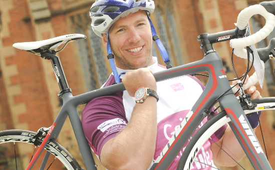 Ulster and Ireland Rugby player Stephen Ferris launched the Malin to Mizen cycle for CLIC Sargent No