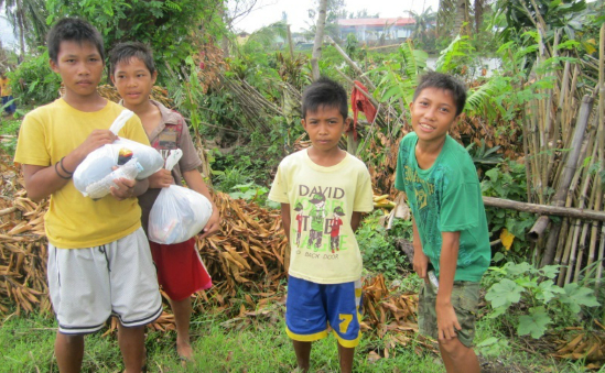 Money raised by Anna will provide more life saving aid for children like these who received our help