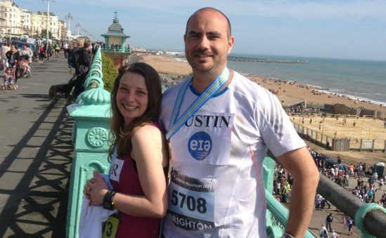 Charlotte & Justin ran the Brighton Marathon for EIA in 2013!