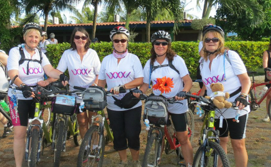 Some of our ladies on Cycle Central America 2012