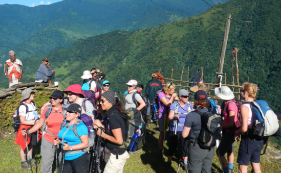 Some of our ladies on our Trek Nepal Challenge 2012