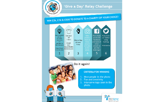 IEF Give A Day Challenge T-Shirt Donations