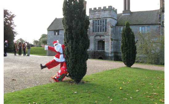 Santa preparing for last years Festive Walk