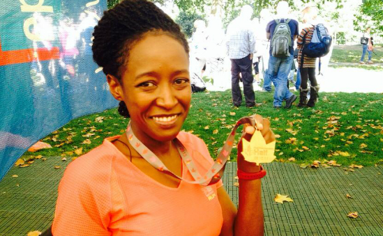 Dee with her medal