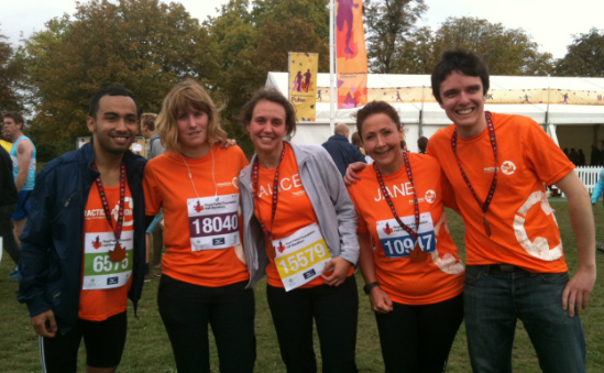 Troy, Marguerite, Alice, Jane and Dan proud to run for Practical Action