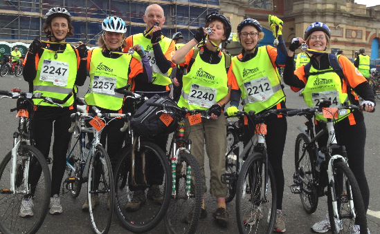 Some of our Nightriders after last years event