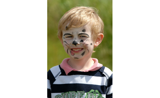 Activities for the whole family, including children's face painting