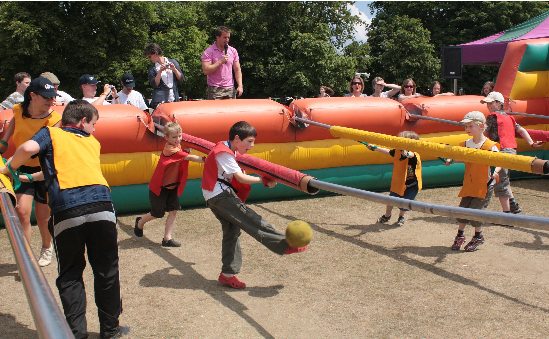 Human Table Football for Adults and Kids alike!