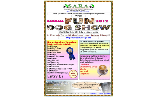 Image of poster for SARA Fun Dog Show 7th July 2012