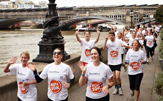 Runners at last year's Teach First Run 10K London