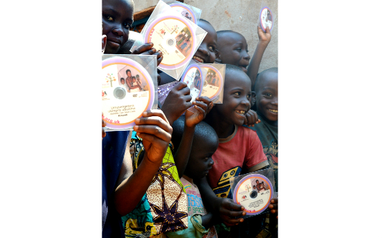 This year the first Kirundi DVDs have arrived in Burundi