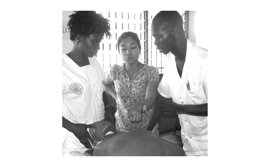 ReSurge Director Catherine Liao with Sierra Leonean Nurses